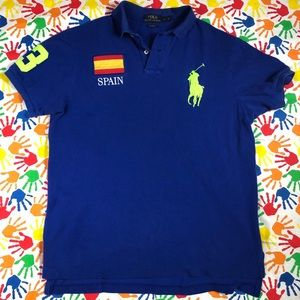 Embroidered Spain Patch Polo by Ralph Lauren
